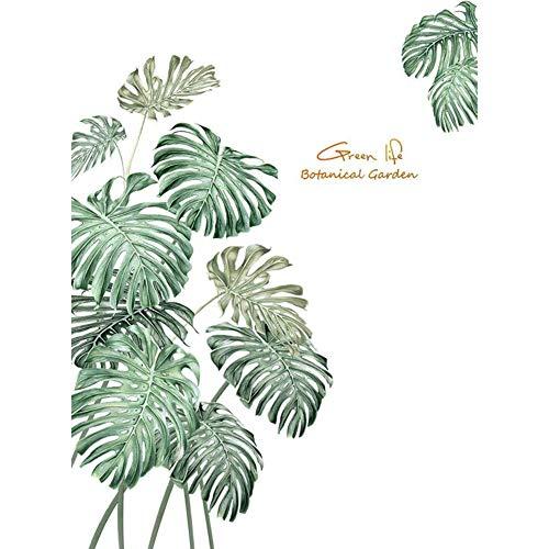 Creative Tropische Groene Plant Grote Muurstickers Kamer Wanddecoratie PVC Zelfklevend Behang Stickers,Green
