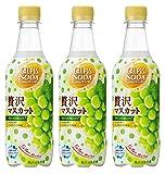 アサヒ飲料 「カルピスソーダ」贅沢マスカット 450ml ×3本