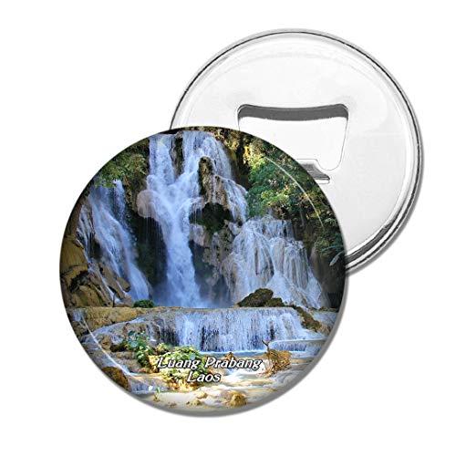 Weekino Laos-Wasserfall Luang Prabang Laos Bier Flaschenöffner Kühlschrank Magnet Metall Souvenir Reise Gift