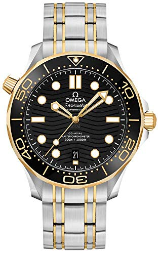 Omega Diver 300M cronómetro automático reloj de los hombres con esfera negra 210.20.42.20.01.002