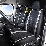 TOYOUN - Funda universal para furgonetas y camiones, furgonetas, autobuses, asiento delantero de 1 + 2 (3 plazas), fundas de asientos universales