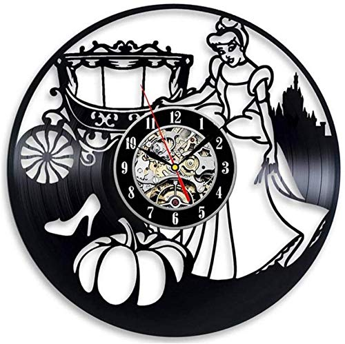 Vinyl Wandklok Stickers Woondecoratie Accessoires Modern Hangend Cartoon Horloge Wandklokken Silent-A