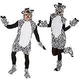dressforfun Kostüm Zebra für Sie und Ihn | Aus weichem Fellimitat | Ärmellos und vorne mit...