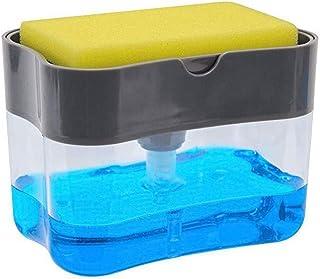 TOPBATHY Soap Pump Dispenser and Sponge Holder Countertop Liquid Hand Soap Dispenser Pump Bottle for Kitchen and Bathroom ...