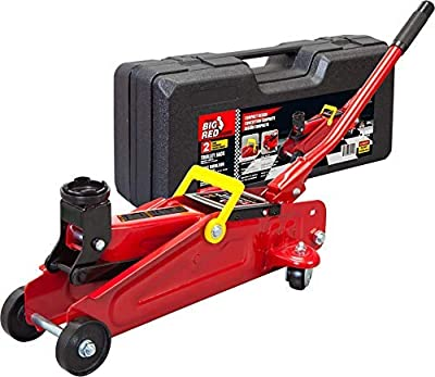 Torin T820014S Big Red Hydraulic Trolley Floor Jack with Carrying Case, 2 Ton (4,000 lb) Capacity (Renewed)