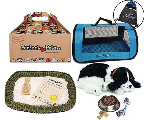 Perfect Petzzz Huggable Breathing Puppy Dog Pet Bed Cocker Spaniel Blue Tote Plush Breathing Pets, Dog Food, Treats Chew Toy Myriads Drawstring Bag