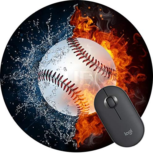 Round Gaming Mouse Pad Round Mousepad for Computer,Funny Gift Non-Slip Mouse Mat -Baseball mom
