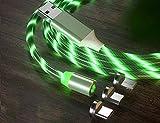 Le tide 6.5FT LED fließende magnetische Ladekabel leuchten Candy Moving Shining Ladegerät Telefon...
