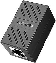 UGREEN RJ45 Coupler Cat7 Cat6 Cat5e Ethernet Cable Extender Adapter LAN Connector in Line Coupler Female to Female (Black)