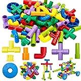 Onshine 72 PCS Kinder DIY Bauklötze Bausteine Rohre Spielzeug Konstruktion Blöcke Pädagogische Spielzeug Geschenk für Kinder 3 jahre