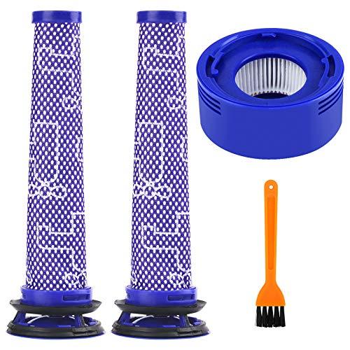 BluePower 4pc Ersatz Filter Zubehör Kit Kompatibel Dyson V6 V8 V7 Pre-Filter Vormotorfilter und V7 V8 Post-Motor Filter Tierischen und Absoluten Akku-Vakuum-Bundle Staubsauger(mit Reinigungsbürste)