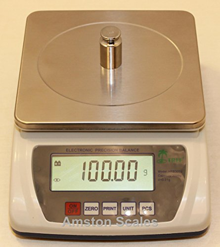 Tree Scales Lw Measurements HRB 3002 Portable Precision Counting Balance 3000 G X 001 Gram - With 2 Year Warranty