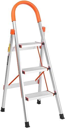 popular LUISLADDERS 3 Step Ladder Aluminum Lightweight Folding Step online Stool online Portable Home and Kitchen Anti-Slip Stepladder 330lbs EN131 sale