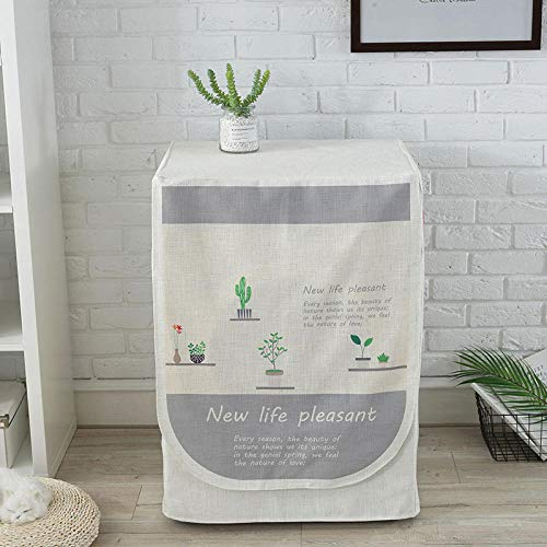 GZxyj Funda Lavadora Impermeable Cactus Lino Lavadora Carga Frontal Cubierta Protector Secadora
