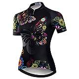 weimostar Maillot de ciclismo de las Mujeres de la Bicicleta de Montaña Jersey Camisetas de manga Corta de la Carretera de la Bicicleta, Mujer, 17, L