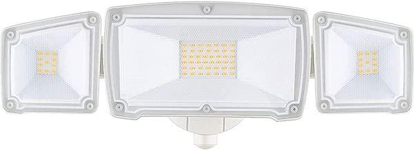 LEPOWER 3000LM LED Security Light, 30W Super Bright Outdoor Flood Light, ETL- Certified, 3000K, IP65 Waterproof, 3 Adjustable Heads for Garage, Patio, Garden, Porch&Stair(Warm Light)