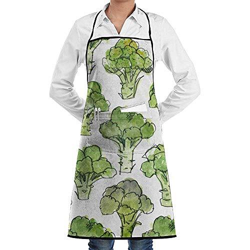 Pag Crane Grüne Brokkoli-Küchenschürze Lustige Druckkochschürze für Grill, Grill, Kochen, Cosplay-Party-Schürze Männer, Geburtstag für Ehemann-Freund
