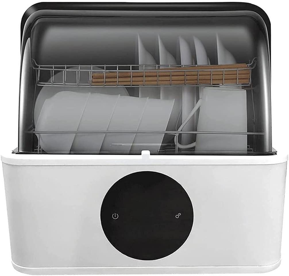 MYRCLMY Lavavajillas, lavavajillas automático multifunción, Totalmente automático, sin instalación de gabinetes de lavavajillas domésticos pequeños, 6 Modos de Limpieza