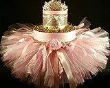 Pink & Gold Diaper Cake Tiara Tutu Baby Girl Baby Shower Gift Newborn Baby Birthday Gift for her Hair Bows