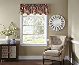 WAVERLY Kitchen Valances for Windows - Brighton Blossom 52' x 18' Short Curtain Valance Small Window Curtains Bathroom, Living Room and Kitchens, Gem