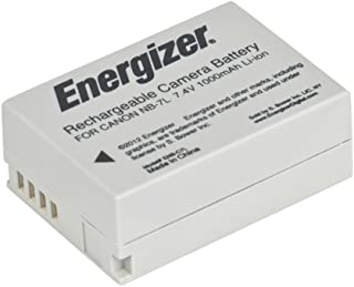 Energizer ENB-C7L Digital Replacement Battery NB-7L for Canon PowerShot G12, G11, G10 and SX30 (Grey)