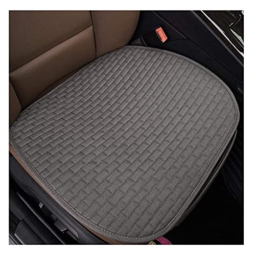 Cubiertas individuales de asiento de automóvil, cojín fresco de lino de verano, relleno de esponja Cojín del asiento delantero del automóvil con la parte inferior inferior no deslizante, estera de pro