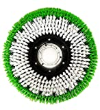 Janilink 15' Rotary Floor Scrubbing Brush Green/White- Perfect fit for 17' Buffer/Scrubber