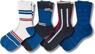 Patterned Men's Crew Socks, 4 Pack Uber Comfy Casual...