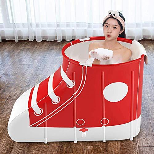 ZHJIUXING SF Bañera Plegable con Forma De Zapato, Barril De Baño Grande, Bañera Privada Plegable,bañeras Adultos, Baño Plegable para Adultos, Red