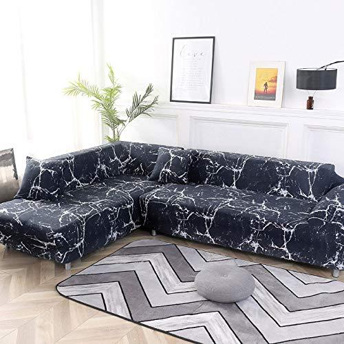 Funda de sofá Funda de sofá elástica Funda de sofá para Sala de Estar Funda de sofá de Esquina en Forma de L Chaise Longue A10 3 plazas