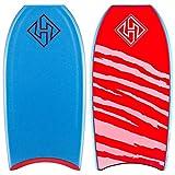 Hubboards Dubb Pro Plus PP CT 41.5 Bodyboard - Aqua/Aqua/Red with White Stripes