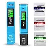 Vegena Medidor de pH, pH TDS EC y temperatura 4 en 1, medidor digital de valor de PH, medidor de calidad del agua, con pantalla LCD, ATC para piscina, agua potable, acuario, laboratorio, hidropónica