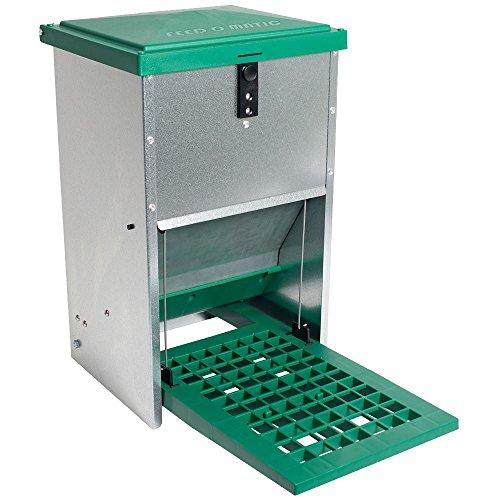 Automatische draadaanvoer voor kippen en andere pluimvee- verzinkte roestvast metaal en UV-beschermd kunststof - 4-6 Hens - 17.5 Pounds of Feed