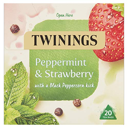 Twinings Peppermnt and Strawbrry Herbal Tea bags - 20 Tea bags