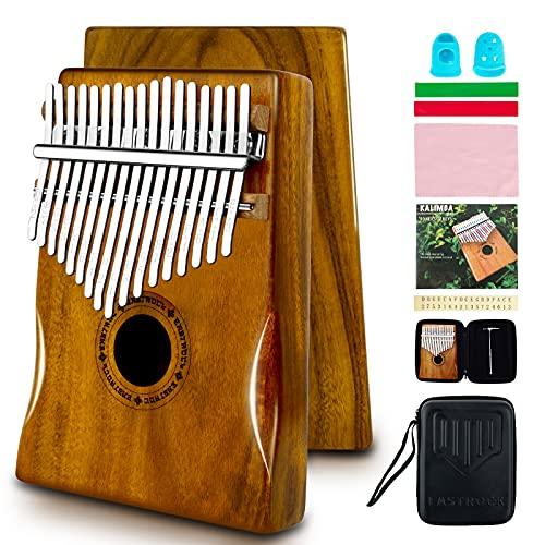 EASTROCK Kalimba Piano de pulgar de 17 teclas con estuche Kalimba Piano de dedo para principiantes (Kalimba Thumb Piano)