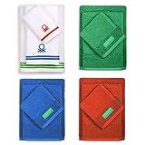 UNITED COLORS OF BENETTON. Pack Familiar 12 Toallas de baño: 4 de Mano, 4 de Lavabo y 4 para Ducha, en Colores 70x140 cm, Multicolor, 4 de 30x50+4 de 50x90+4 de 70x140cm