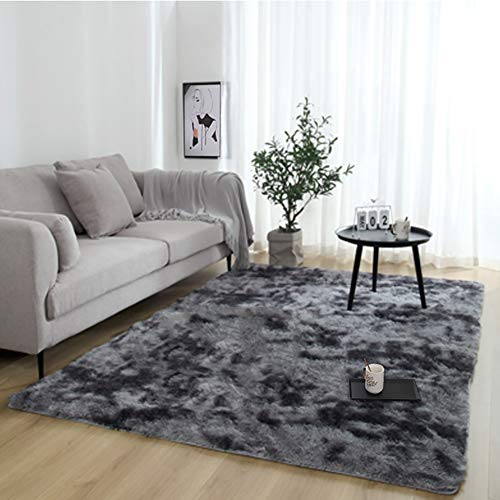 JRMU Gray 4cm Thick High Pile Area Rug,rectangle Indoor Ultra Soft Cozy Plush Carpet Easy Care Non Slip Living Room Nursery Home Decor Gray 60x200cm(24x79inch)