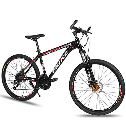 26' Bicicleta De Montaña, 27 Velocidades MTB De La Bicicleta, Bicicleta Juvenil, Suspensión Delantera Y Doble Freno De Disco, Marco De Acero Al Carbono, para Niñas, Niños Y Hombres