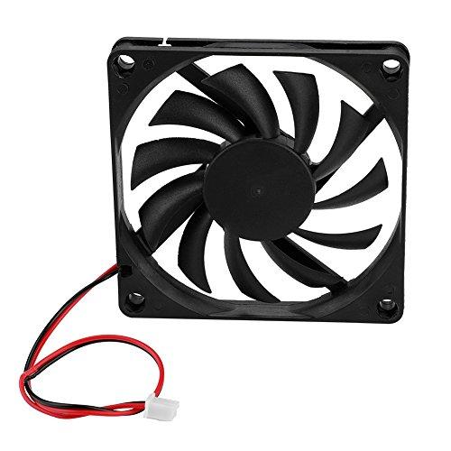 Ventilador de refrigeración de CPU de 2 piezas de 8 cm, ventilador de disipador de calor, disipación de calor rápida y silenciosa, gran volumen de aire de alta velocidad, ventiladores de CPU para