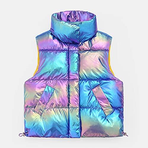 Otoño e invierno Nueva ropa de panadería para niños y niñas Chaleco de algodón, azul, 1-2T, Morado (, 2-3 Años