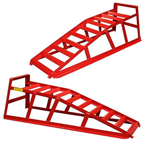 Par de rampas para coche elevadoras capacidad 2 toneladas portatiles Extra Sólidas y Ancha