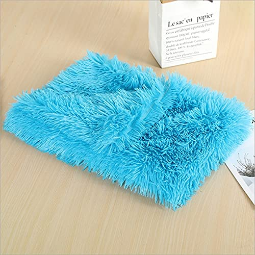 Tivivose Winter Soft Pet Dog Blanket Cat Bed Mat for Small Medium Large Dogs Mattress Puppy Blanket Dog Bed for Animal Pet Products (Color : Blue, Size : M)