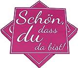 HEKU 30243-126: 100 servilletas de 3 capas, diseño con texto en alemán'Schön DASS du da bist', color rosa