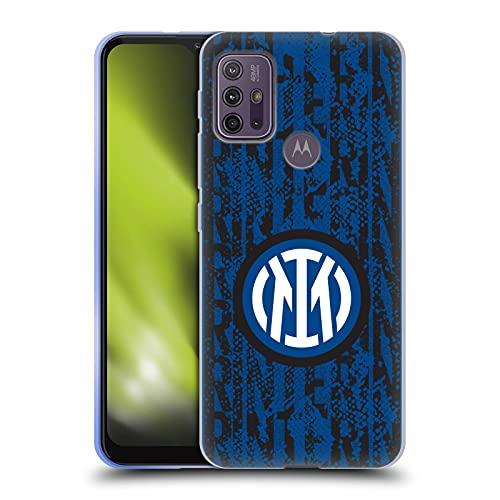 Head Case Designs Licenza Ufficiale Inter Milan Serpente Marchio di Parola Modelli Cover in Morbido Gel Compatibile con Motorola Moto G10 / Moto G30