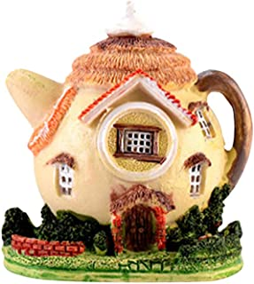 HEALLILY Miniature Fée Jardin Maisons Maison de Poupée Chalet Maison Miniatures Fées Jardinage Décoration Statues pour Mic...
