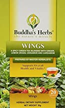 Wings Tea - Immunity, Inflammation and Antioxidant Support - Green Tea with Ginger, Cinnamon & Cardamom - 4 Pack - 20 Coun...