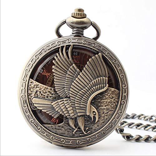 Zay Luay Reloj De Bolsillo, Reloj Mecánico Automático, Reloj De Bolsillo De Tapa Hueca Águila, Viejos Puntero Mesa Redonda Reloj de Bolsillo de la Vendimia