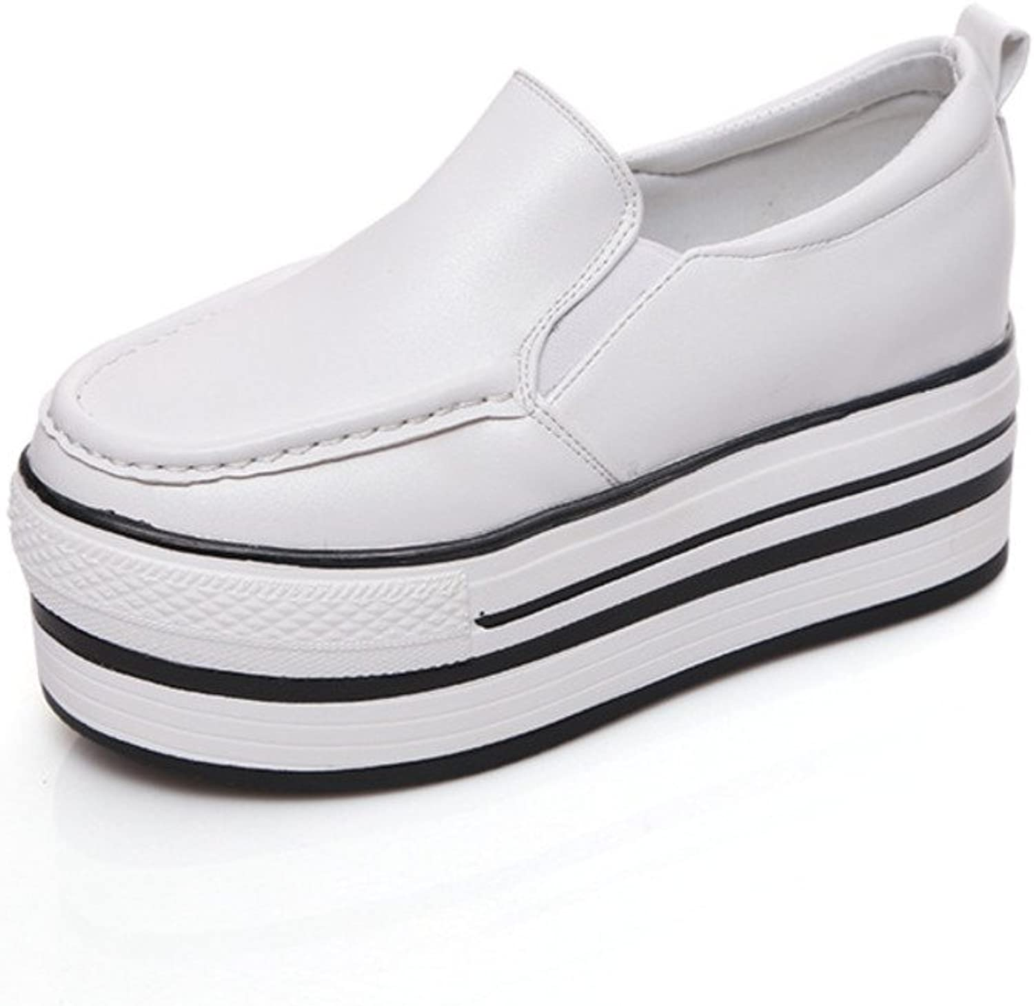 The Korean version of thick-soled platform shoes in summer and autumn College style shoes adding high casual shoes