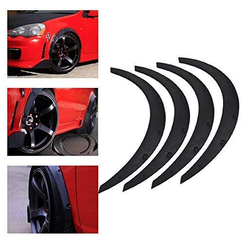 4pcs Universal Car Auto Fender Flares Arco Rueda Protector de cejas Guardabarros Pegatina PU Coche Modificación Accesorio