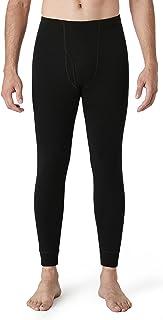 LAPASA Men's 100% Merino Wool Thermal Underwear Pants Long John Leggings Base Layer Bottom Lightweight & Midweight M30, M68